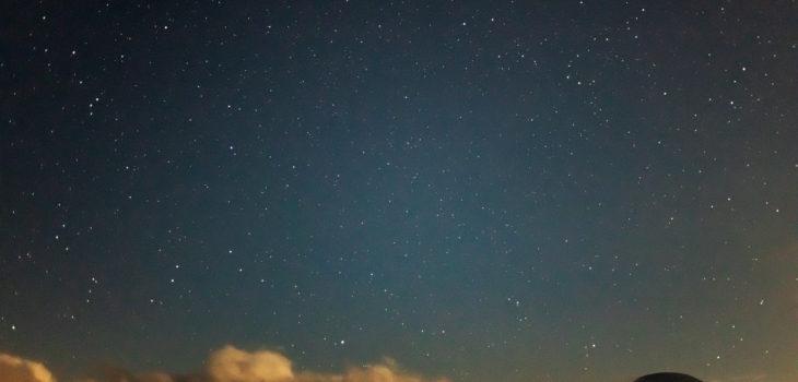 2020年8月26日、信州たてしな 白樺高原の蓼科第二牧場にて夜の風景