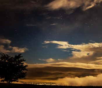 2020年9月5日、信州たてしな 白樺高原の蓼科第二牧場から北方向、夜の風景