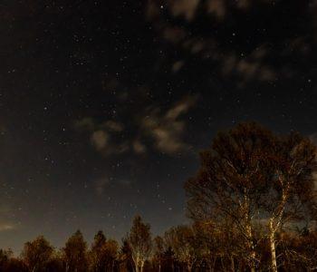 2020年10月26日、信州たてしな 白樺高原の蓼科第二牧場から北西方向、夜の風景