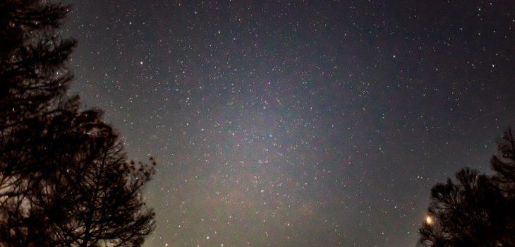 2020年11月3日、信州たてしな 白樺高原の夕陽の丘公園から、夜の風景