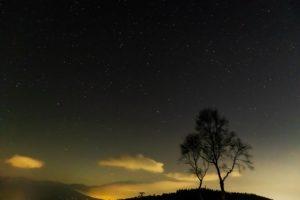 ビーナスライン沿いにある伊那丸富士見台から見た星空