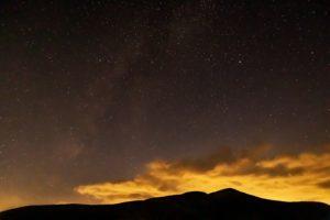 ビーナスライン沿いにある三峰展望台から見た星空