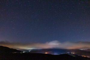 信州たてしな白樺高原=星空高原にあるおすすめの星空スポットのひとつ夕陽の丘公園からの眺め