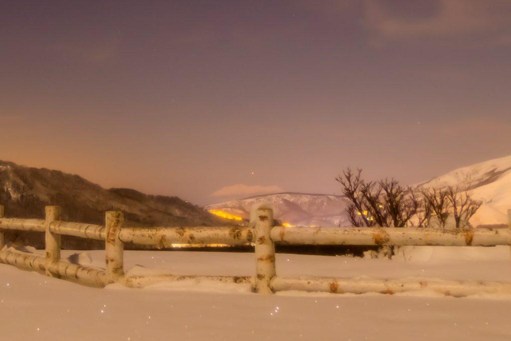2021年1月25日、夕陽の丘公園から御嶽山のすぐ上に見えた水星。