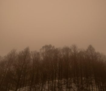 2021年1月27日、信州たてしな 白樺高原の夕陽の丘公園から見た、夜の風景。